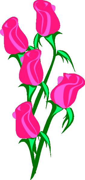Bunch Of Pink Roses Clip Art at Clker.com - vector clip ...