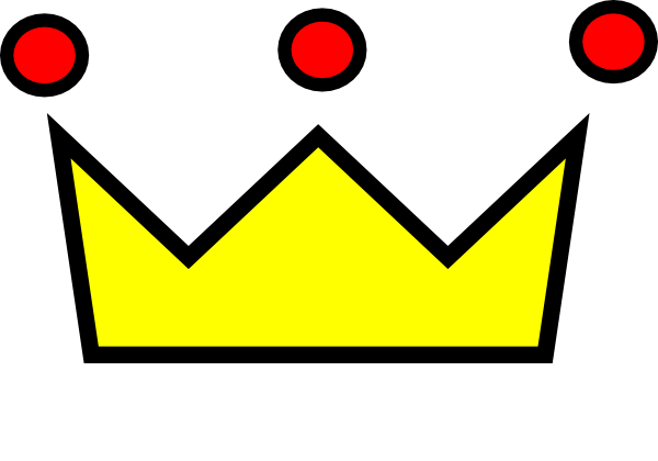 Red Yellow Crown Clip Art at Clker.com - vector clip art online ...