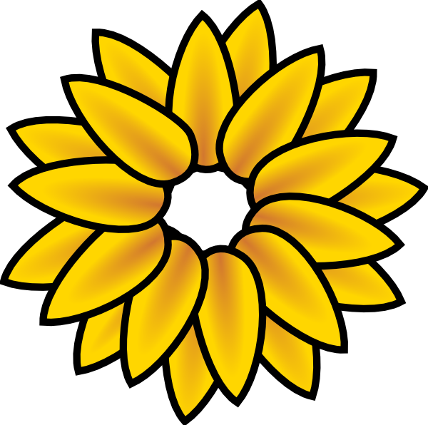 Sunflower Clip Art at Clker.com - 125.6KB
