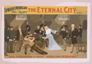 Edward Morgan In Hall Caine S New Play, The Eternal City Musical Setting By Pietro Mascagni. Clip Art
