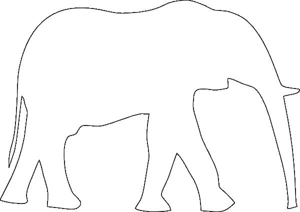 clipart elephant outline - photo #42