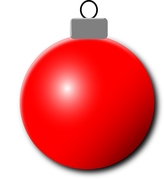 Red Christmas Ornament Clip Art at Clker.com - vector clip art ...