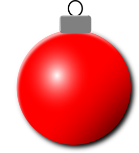 red christmas ornament clip art - Christmas Ornaments Clipart