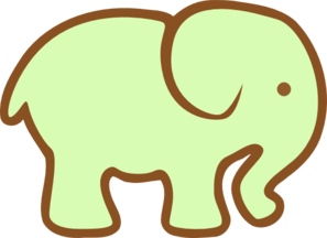 Green Ellie Clip Art