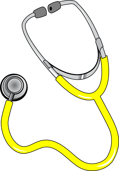 yellow stethoscope clip art at clker com vector clip art online rh clker com stethoscope clipart free stethoscope clipart black and white