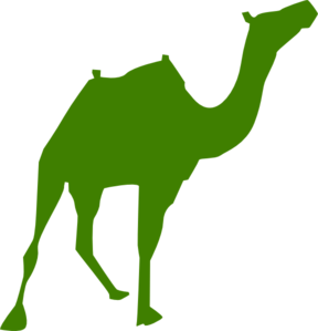 Walking Camel Silhouette Clip Art