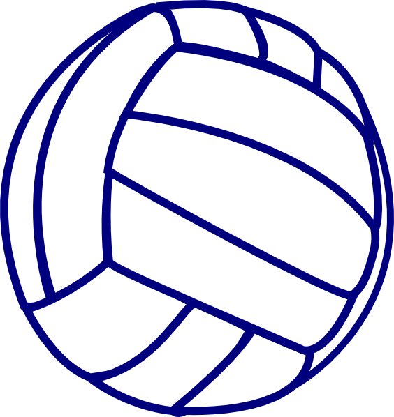 Volleyball Blue Outline Clip Art