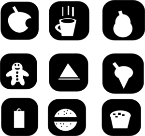 Snack Icons Clip Art
