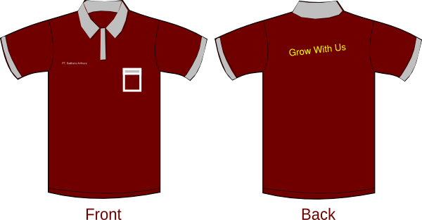 polo shirt sleeves red maroon clip art at clkercom