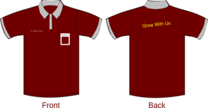 Polo Shirt Sleeves Red Maroon Clip Art