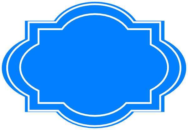 decorative label blue clip art at clker com vector clip flourish clip art free flourish clip art free