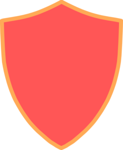 Red And Orange Shield Clip Art