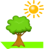 Tree Under Sunlight Clip Art