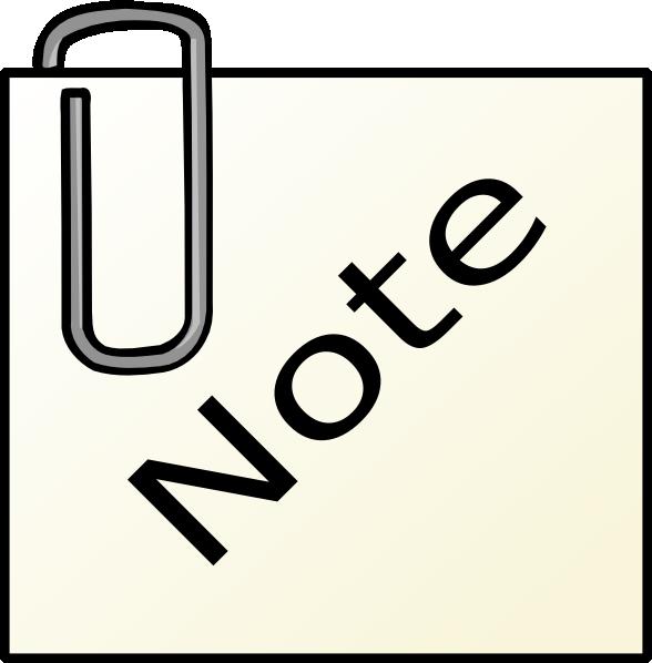 paperclip note clip art at clker com vector clip art online rh clker com note clipping note clip art
