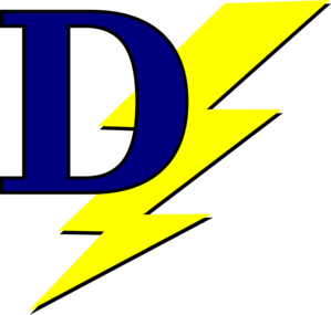 Lightning Bolt With D Clip Art