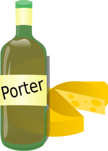 Porterwine With Cheese Clip Art