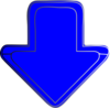 Blue-arrow-down Clip Art