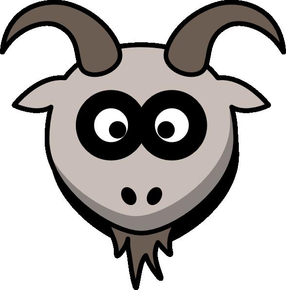 Goat face clip art