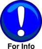 For Info Caution Icon Clip Art