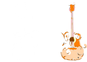 Orange Guitar Clip Art