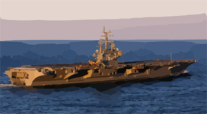 Uss Ronald Reagan (cvn 76) Exits The Chesapeake Bay Clip Art