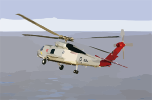An Sh-60f Seahawk Assigned To The War Hawks Of Helicopter Anti-submarine Squadron Ten (hs-10) Flies Channel Guard For Uss Abraham Lincoln (cvn 72) As She Enters San Diego Harbor. Clip Art