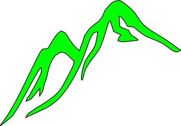 Mountain Outline Green Clip Art at Clker.com - vector clip art online ...
