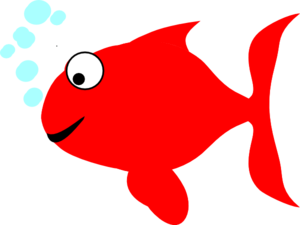 Red And Turquoise Fish Clip Art