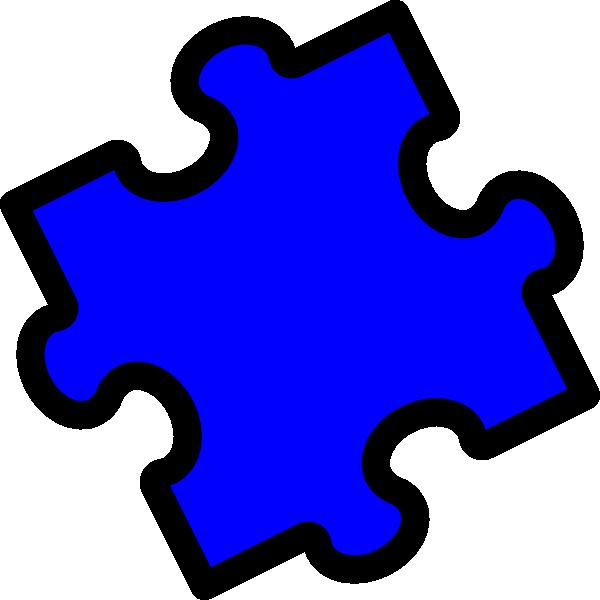 blue puzzle piece clip art at clkercom vector clip art
