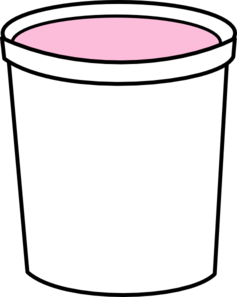 Pink Yogurt Container Clip Art