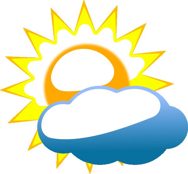 Cloudy Sun Clip Art at Clker.com - vector clip art online ...