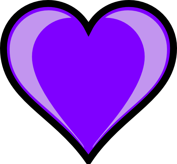 purple heart clip art at clker com vector clip art online royalty rh clker com double heart clipart purple