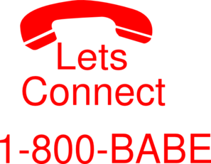 Lets Connect-  Red   Clip Art
