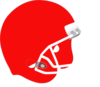 Football Helmet Red White Clip Art