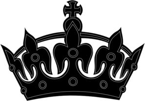 Black Keep Calm Crown Clip Art