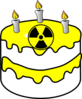 Yellow Radioactive Cake Clip Art
