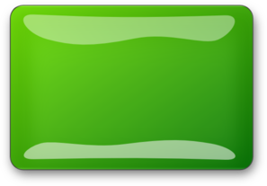 Green Glossy Rectangle Button Clip Art