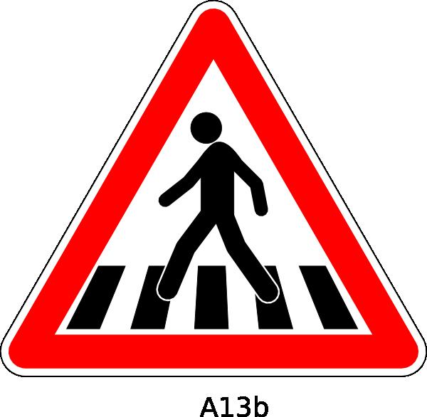Crosswalk Sign Clip Art At Clker Com Vector Clip Art