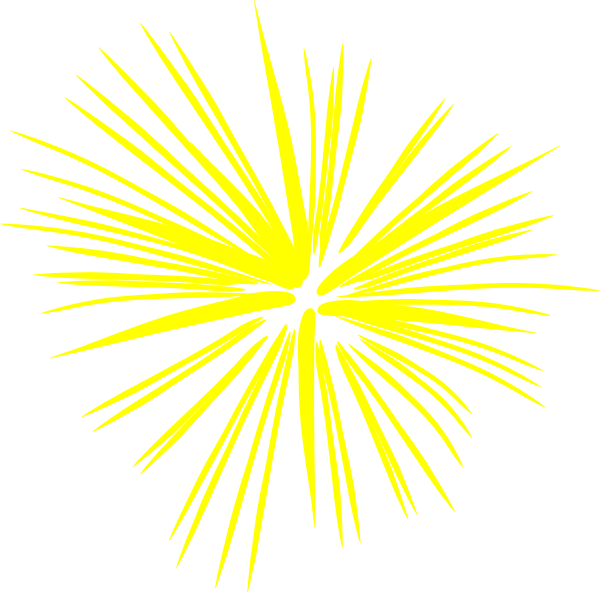 Large Yellow Fireworks Clip Art at Clker.com - vector clip ...