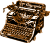 Typewriter Brown Clip Art