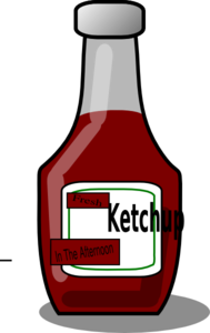 Fresh Ketchup In The Afternoon Clip Art