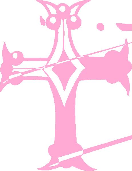 Pink Cross Clip Art at Clker.com - vector clip art online ...