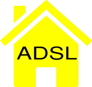 Simple Yellow Adsl House Clip Art
