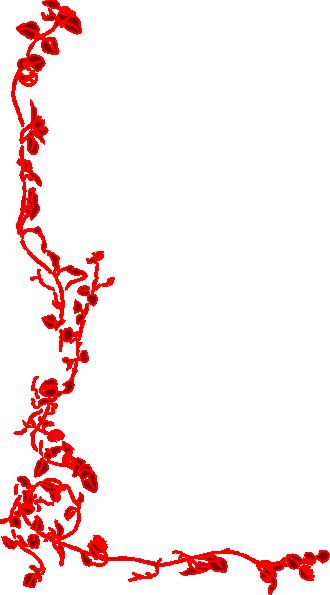 red floral flourish clip art at clker com