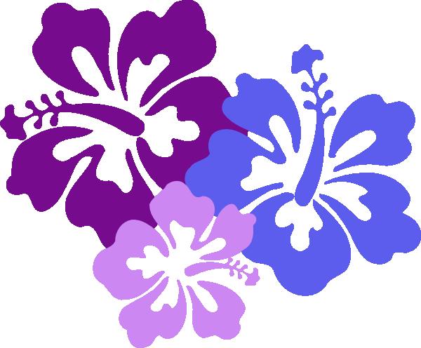 multi hibiscus flower clipart rh worldartsme com Spring Flowers Clip Art Luau Flowers Clip Art