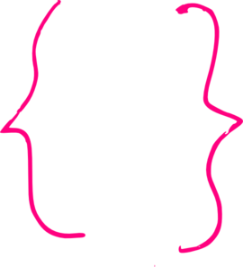 Pink Curly Bracket Clip Art