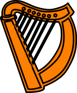 Golden Harp Royal Clip Art