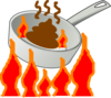 The Hot Skillet Clip Art