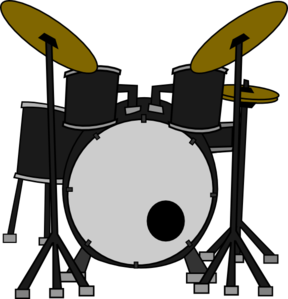 drum set clip art at clker com vector clip art online royalty rh clker com drum kit clipart