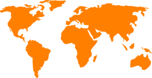 Orange World Map Clip Art